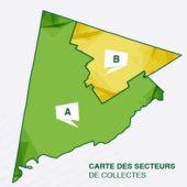 Quel est votre secteur de collecte? Consultez la carte interactive!