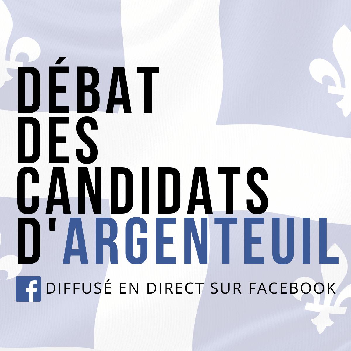 Facebook en direct: débat des candidats d'Argenteuil