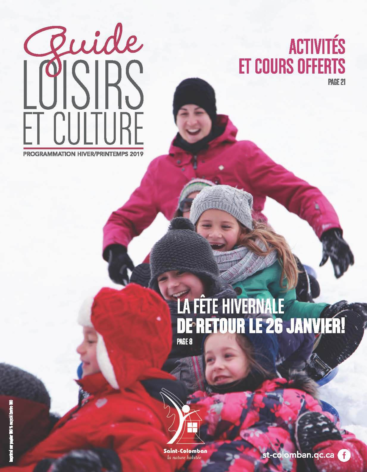 Guide loisirs et culture hiver/printemps 2019