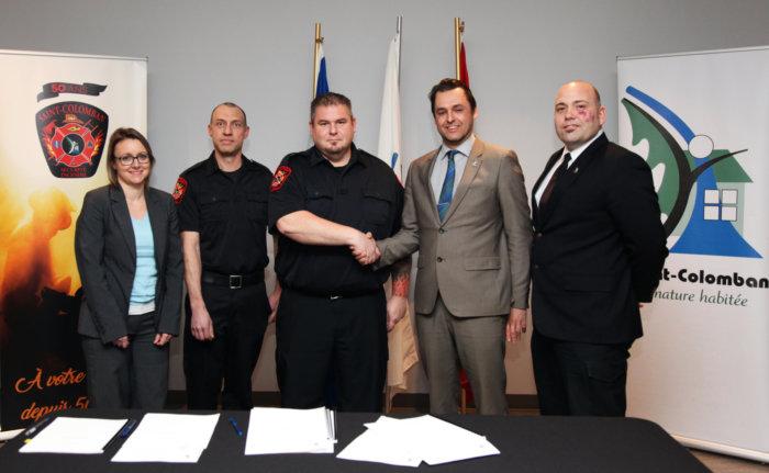 La Ville de Saint-Colomban conclut une nouvelle convention collective avec ses pompiers