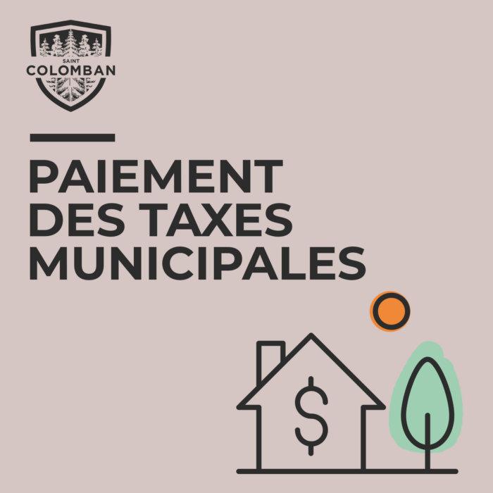 Taxes municipales : les taux des intérêts et des pénalités  sont abaissés à 0% dû à la COVID-19