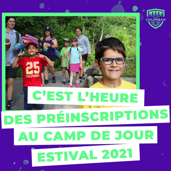 Préinscription au camp de jour estival 2021